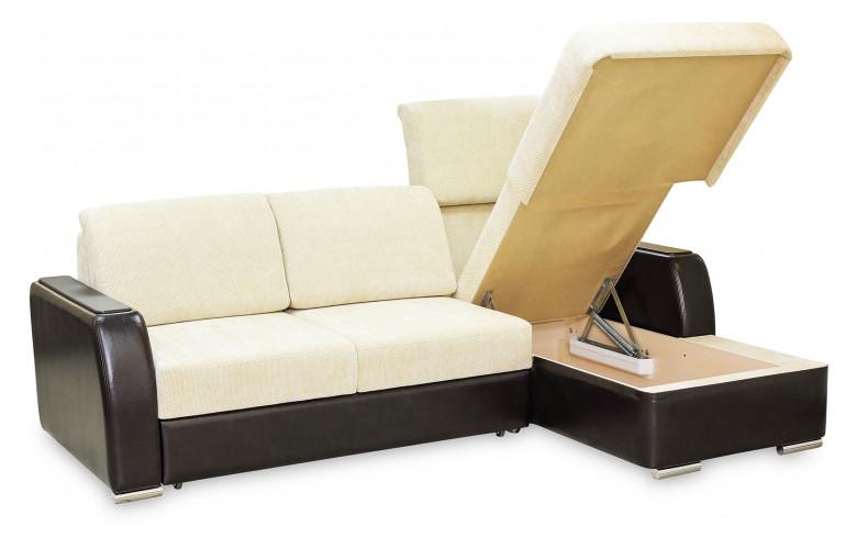 ГЛОРИЯ 2, диван с оттоманкой, в разложенном виде