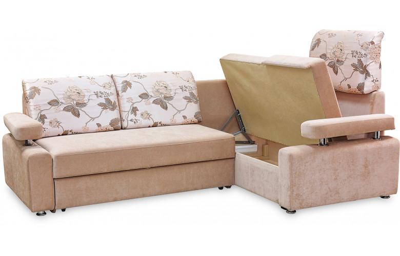 ГЛОРИЯ 4, угловой диван в разложенном виде